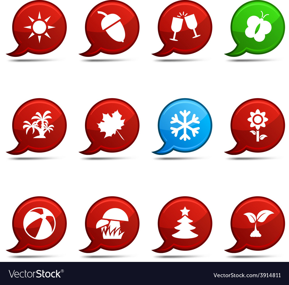 Seasons comics vector | Price: 1 Credit (USD $1)