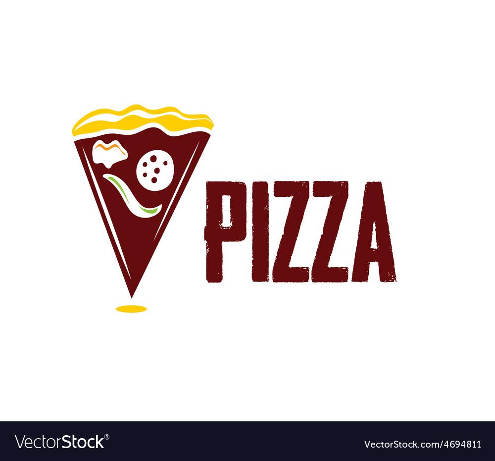 Slice of pizza vector | Price: 1 Credit (USD $1)