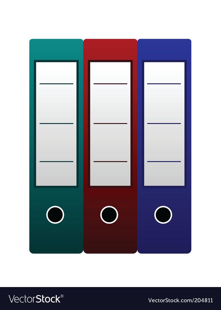 Three office folders vector | Price: 1 Credit (USD $1)