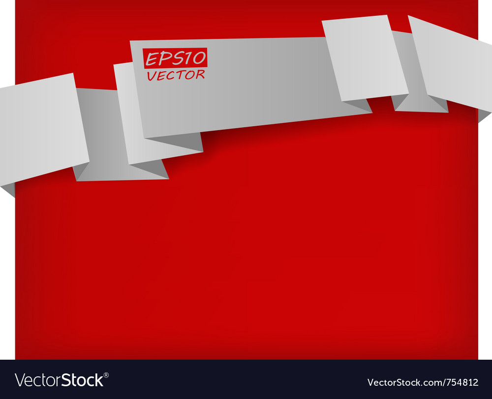 Abstract origami banner vector   Price: 1 Credit (USD $1)