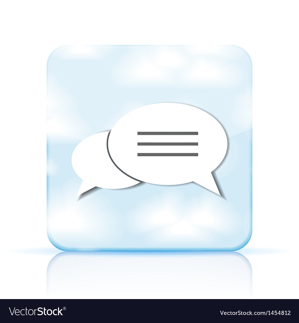Bubble speech app icon on white background eps 10 vector | Price: 1 Credit (USD $1)
