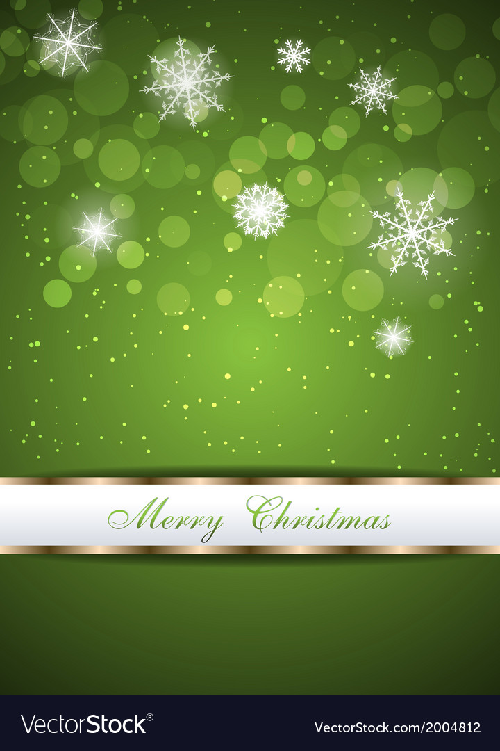 Christmas beautiful green background vector | Price: 1 Credit (USD $1)