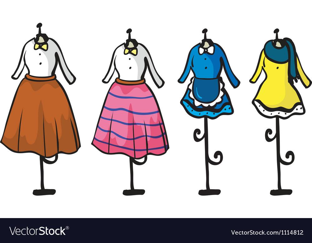 Garments display vector | Price: 1 Credit (USD $1)