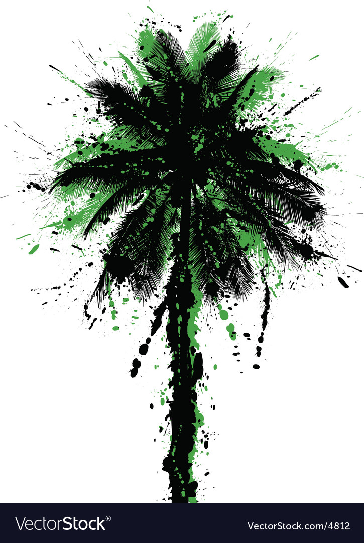 Grunge palm vector | Price: 1 Credit (USD $1)