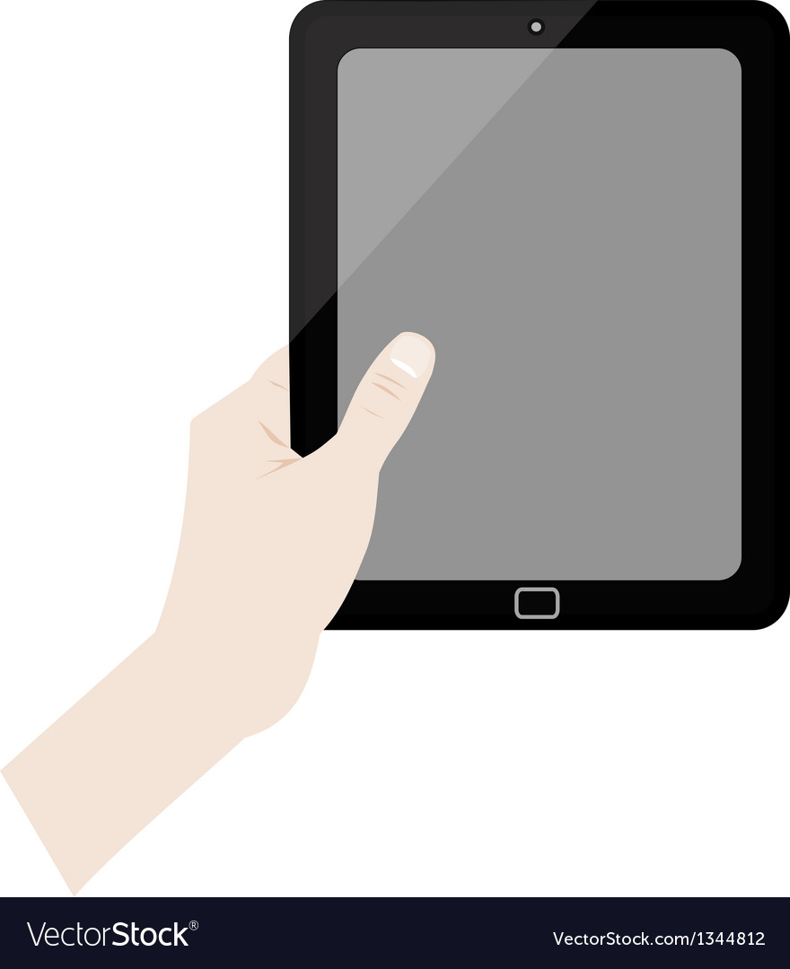 Hands holding tablet collection vector | Price: 1 Credit (USD $1)