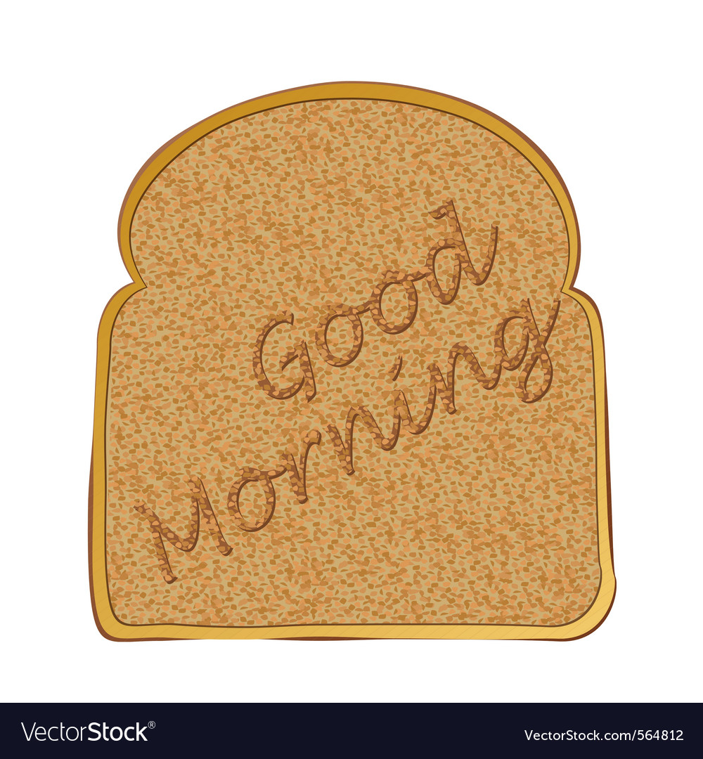 Morning toasted bread concept with toast text vector | Price: 1 Credit (USD $1)