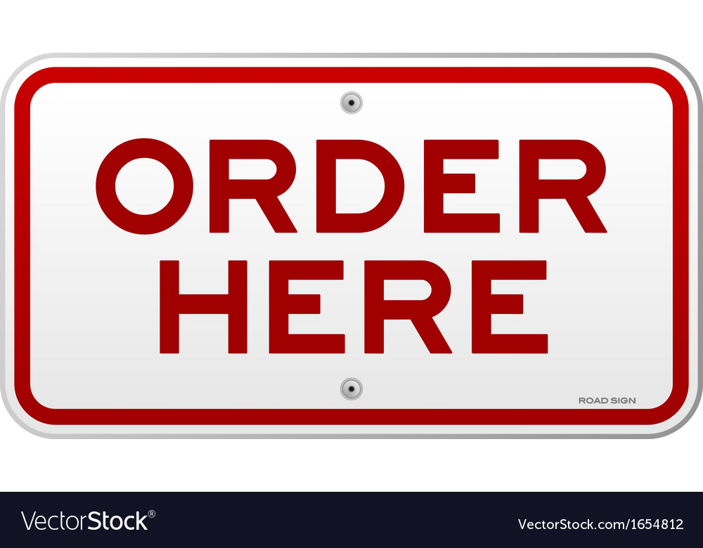 Order here notice vector | Price: 1 Credit (USD $1)