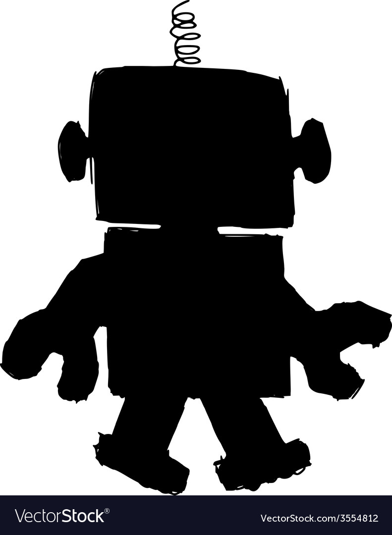 Silhouette of robot vector | Price: 1 Credit (USD $1)