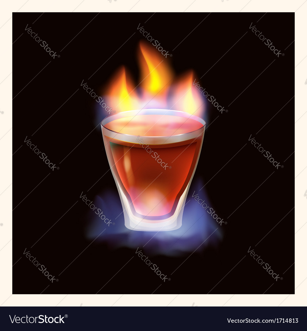 Burning drink - vector | Price: 1 Credit (USD $1)