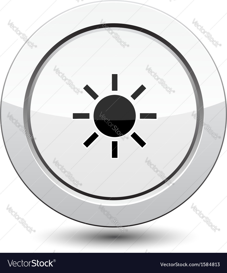 Button with sun vector | Price: 1 Credit (USD $1)
