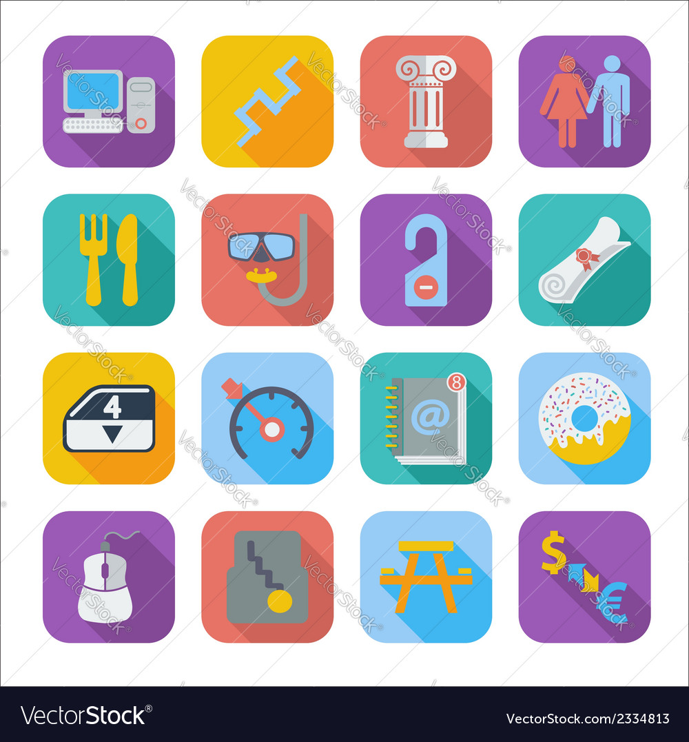 Color flat icons 5 vector | Price: 1 Credit (USD $1)