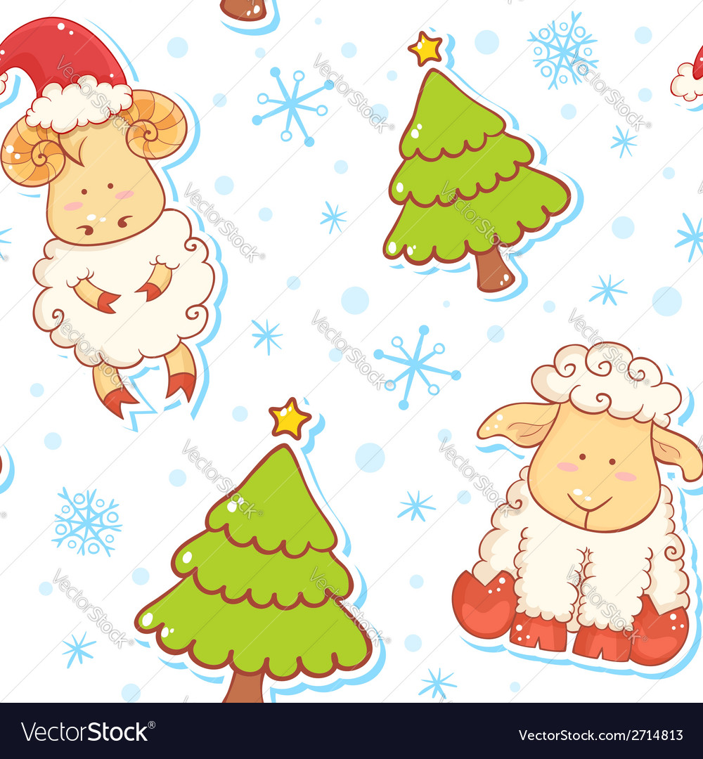 Festive new year winter seamless pattern vector | Price: 1 Credit (USD $1)