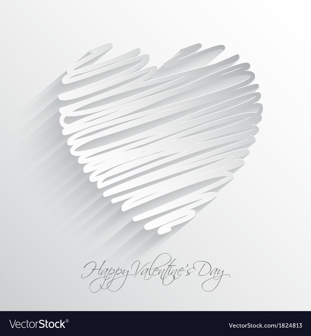 Scribble heart vector | Price: 1 Credit (USD $1)
