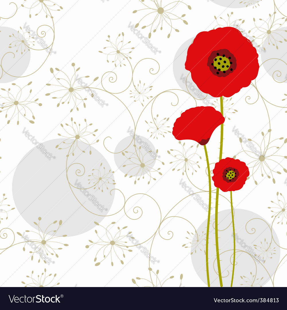 Springtime poppy vector | Price:  Credit (USD $)