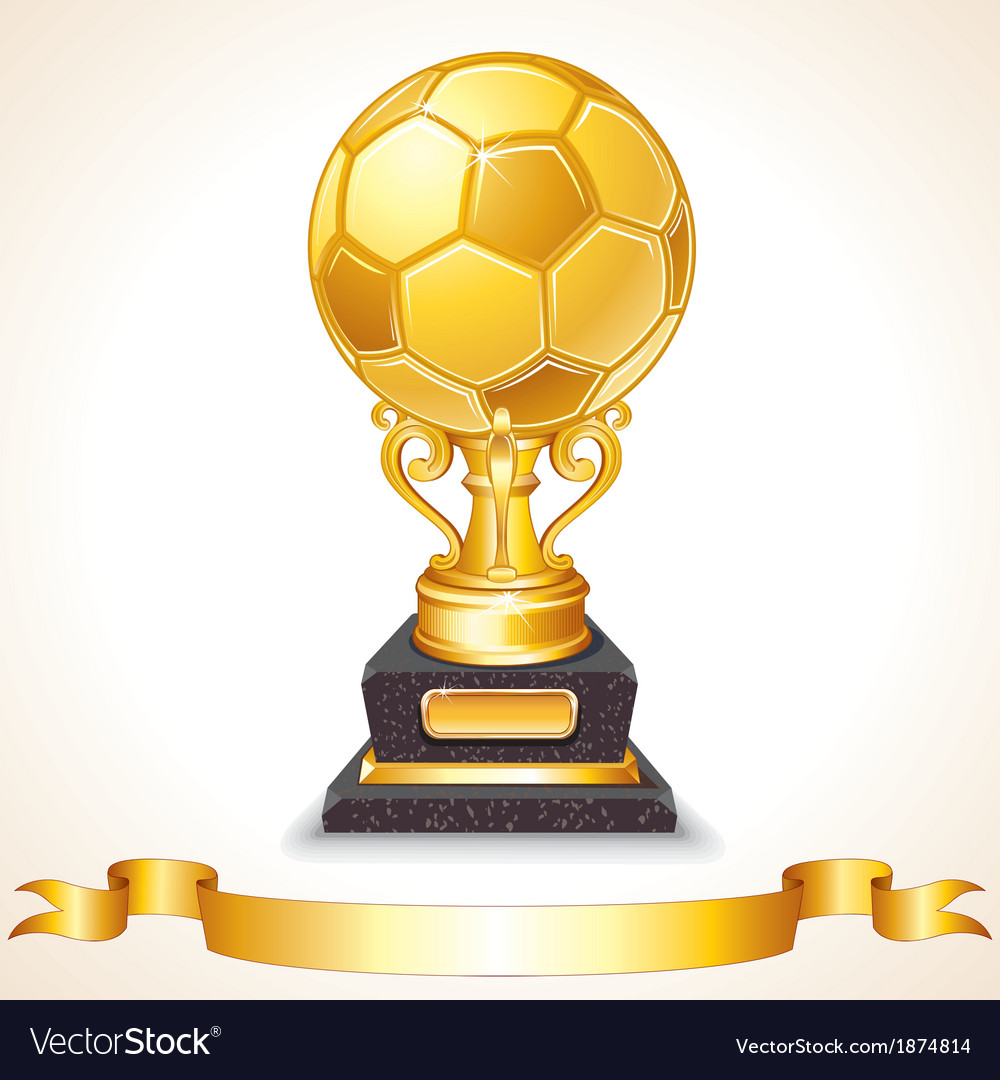 Abstract golden soccer trophy vector | Price: 1 Credit (USD $1)