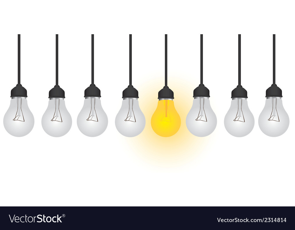 Conceptual bulb isolated on white background vector | Price: 1 Credit (USD $1)