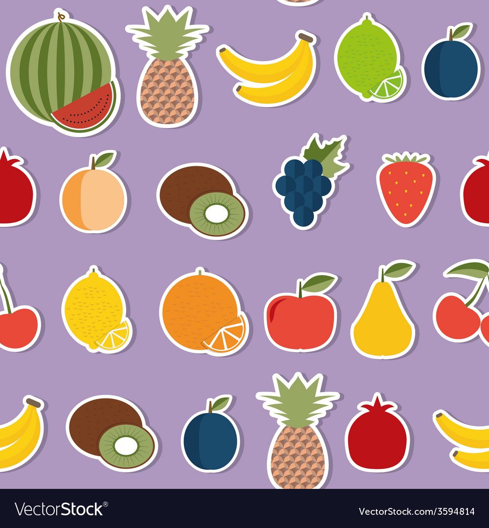 Fruit seamless pattern the image of fruits and vector   Price: 1 Credit (USD $1)
