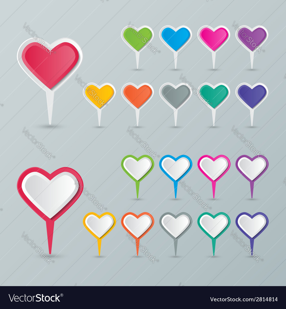 Heart map pointer vector | Price: 1 Credit (USD $1)