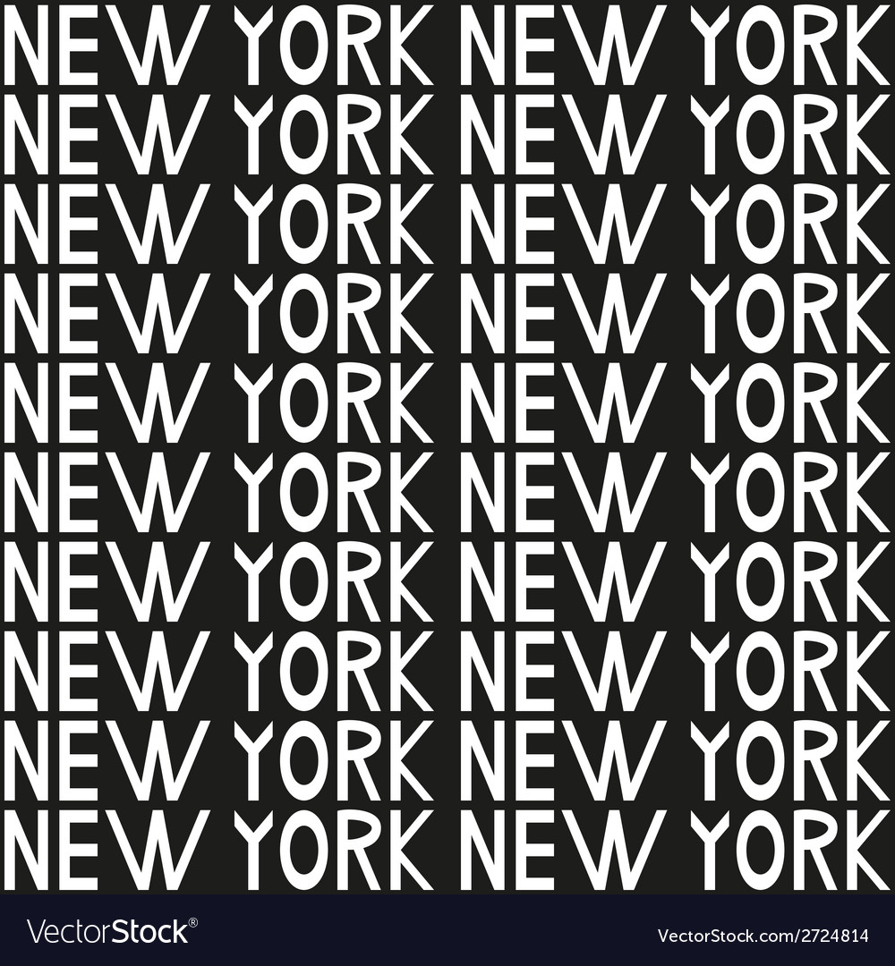 New york typography seamless background pattern vector | Price: 1 Credit (USD $1)