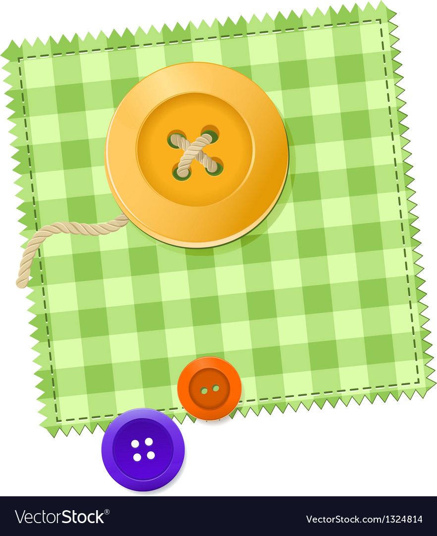 Patch and buttons vector | Price: 1 Credit (USD $1)