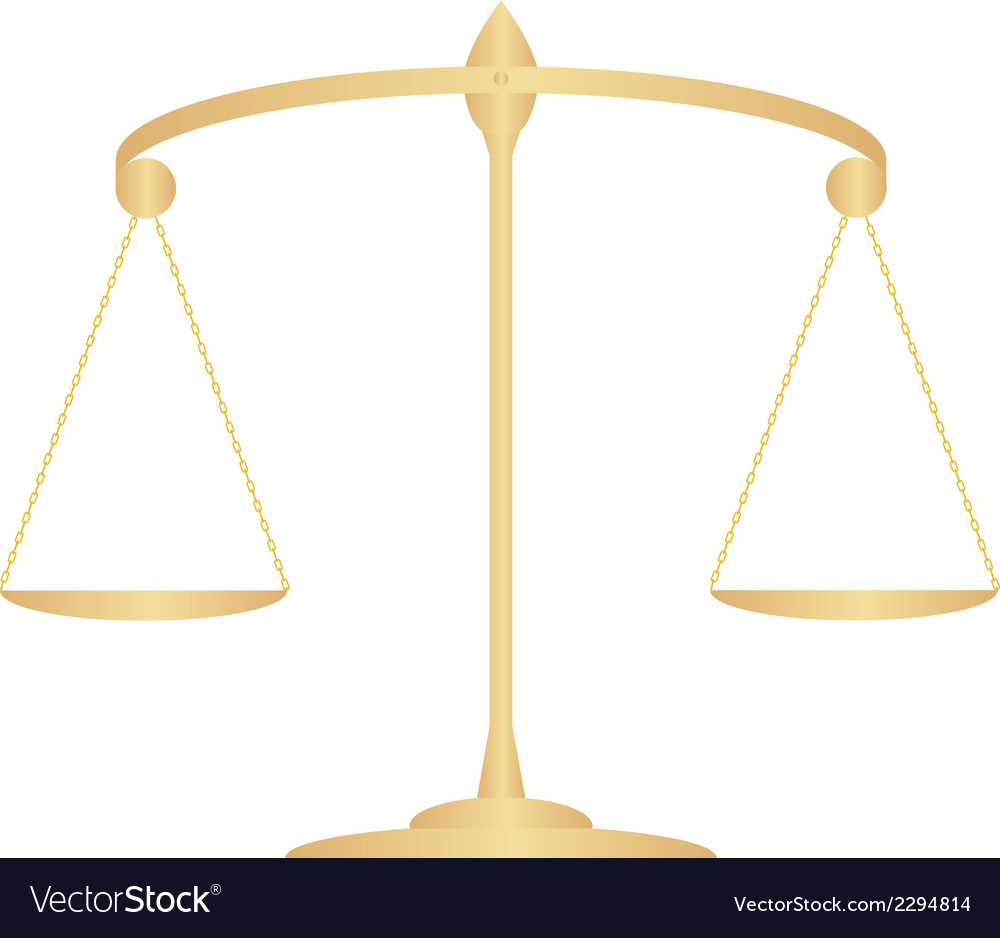 Scales of justice3 1 v vector | Price: 1 Credit (USD $1)