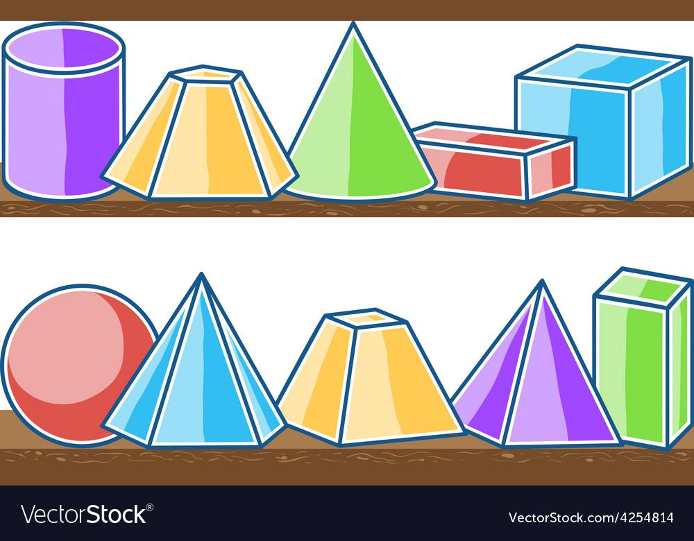 Seamless pattern mathematics solids vector | Price: 1 Credit (USD $1)