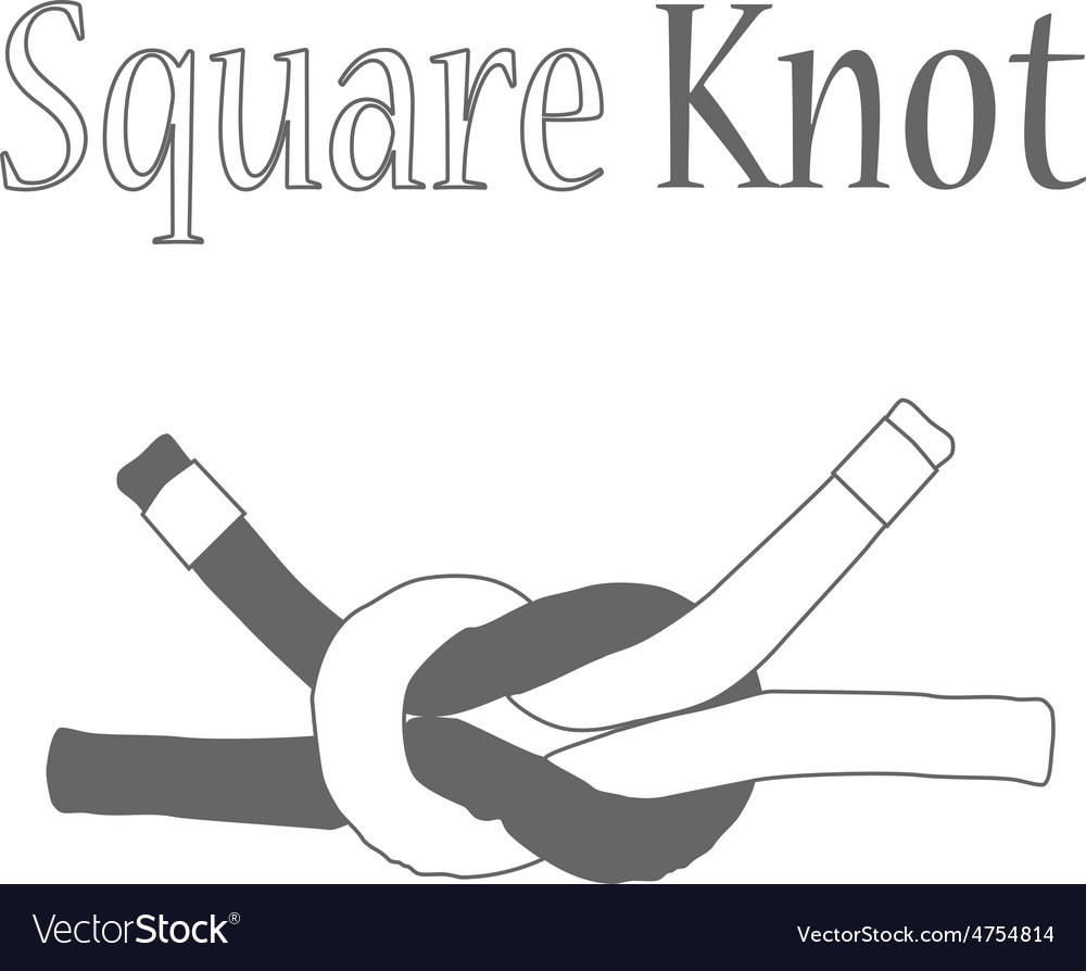 Square knot silhouette vector | Price: 1 Credit (USD $1)