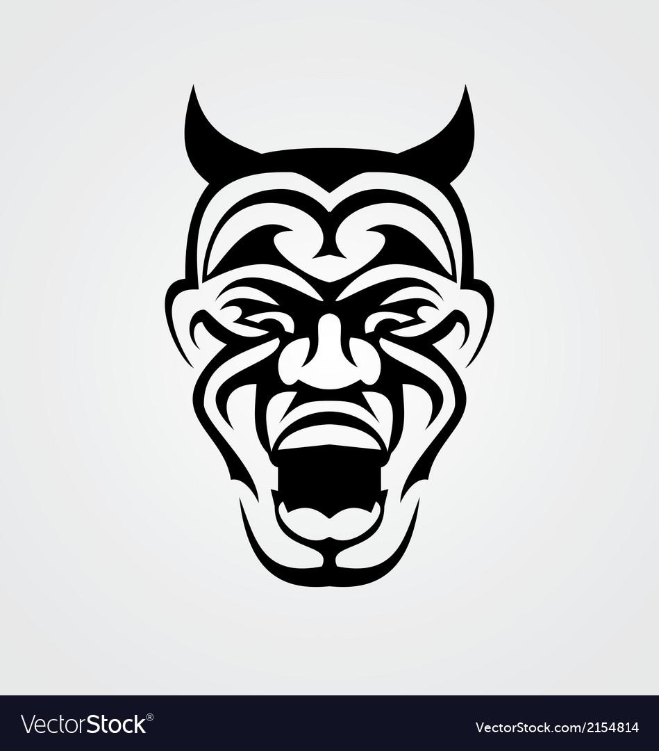 Tribal devil face vector   Price: 1 Credit (USD $1)