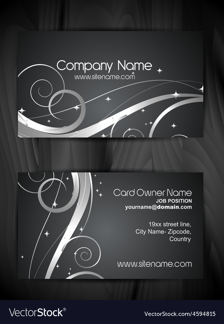 Beautiful floral design business card template vector | Price: 1 Credit (USD $1)