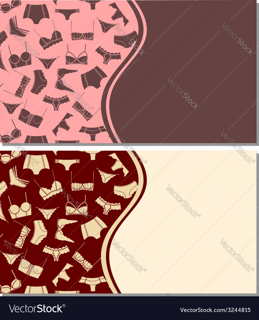 Card templates with underwear pattern vector | Price: 1 Credit (USD $1)
