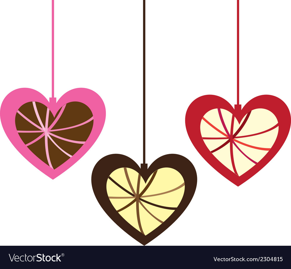 Cute hanging hearts vector | Price: 1 Credit (USD $1)
