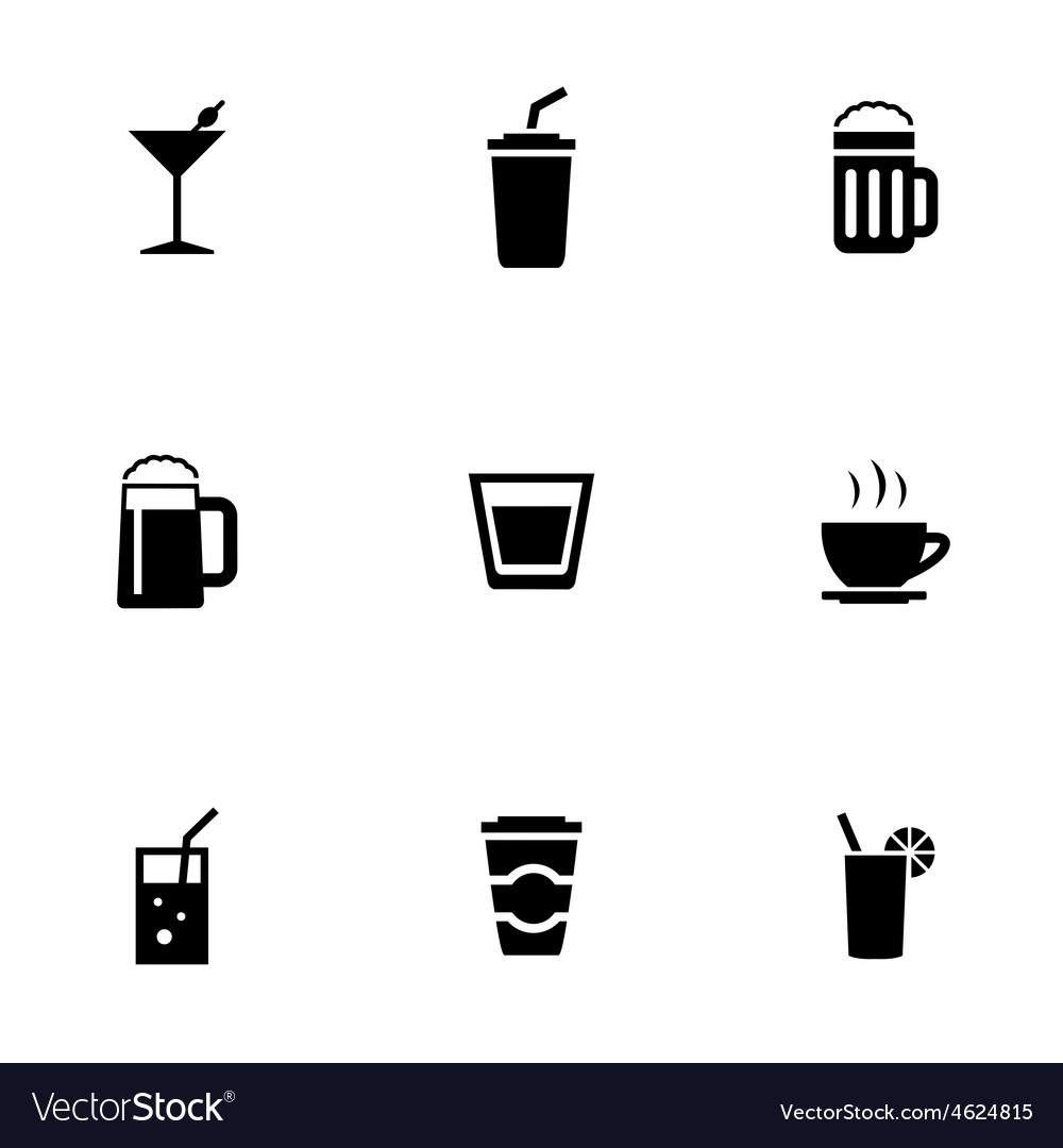 Drinks 9 icons set vector | Price: 1 Credit (USD $1)