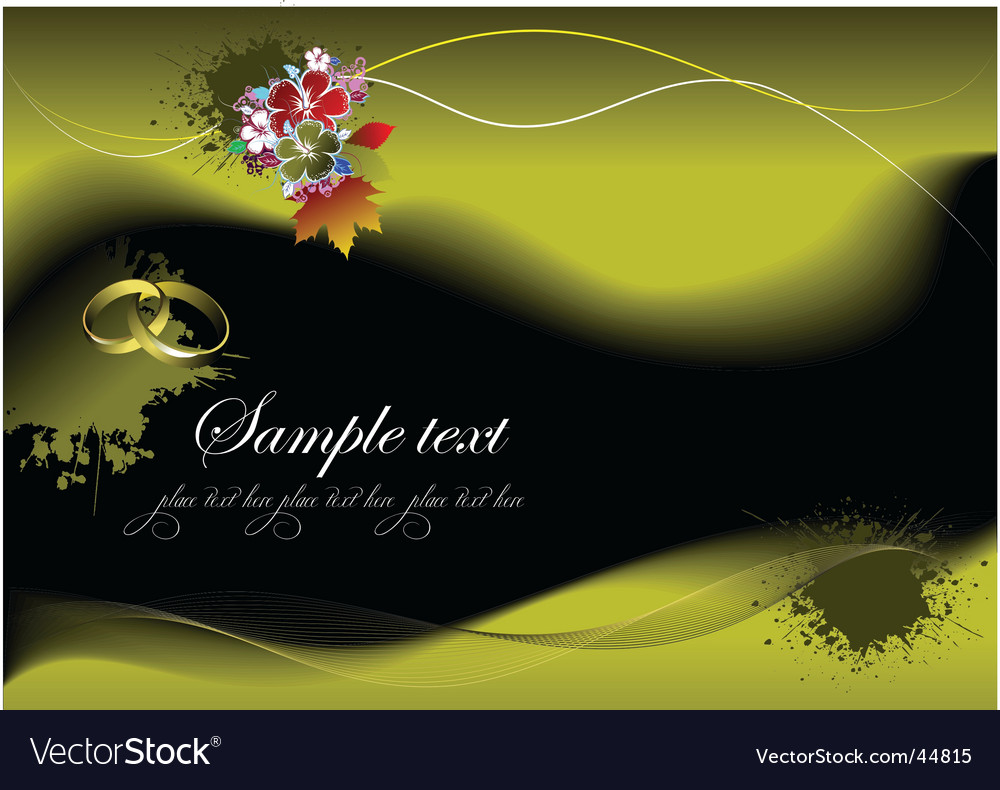 Greeting wedding card vector | Price: 1 Credit (USD $1)