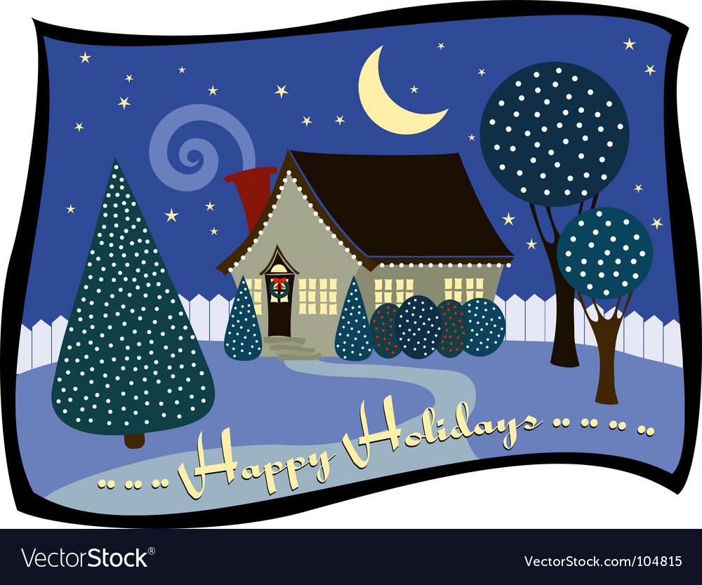 Holiday cottage vector | Price: 1 Credit (USD $1)