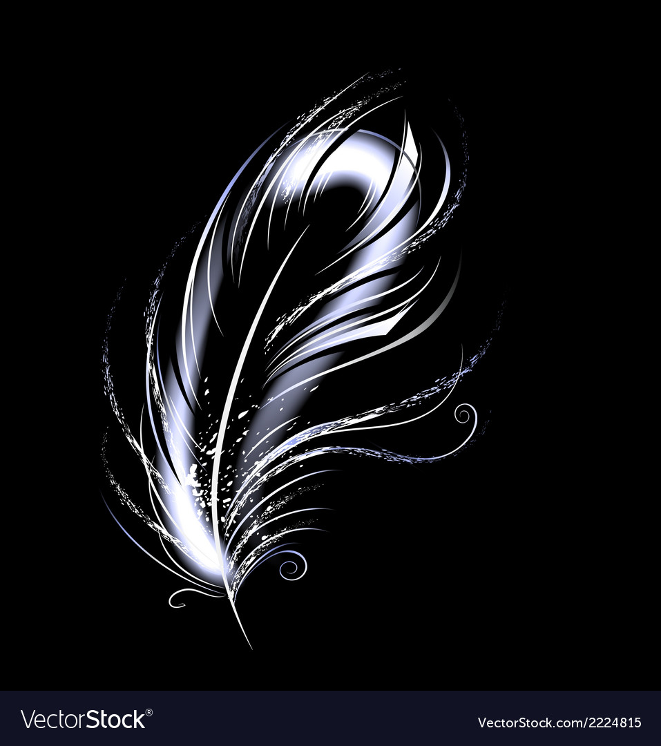 Luminous feather vector | Price: 1 Credit (USD $1)