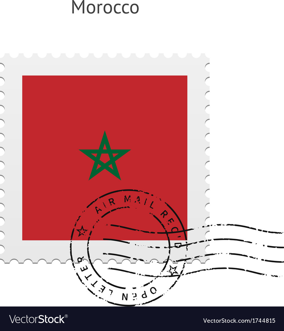 Morocco flag postage stamp vector | Price: 1 Credit (USD $1)