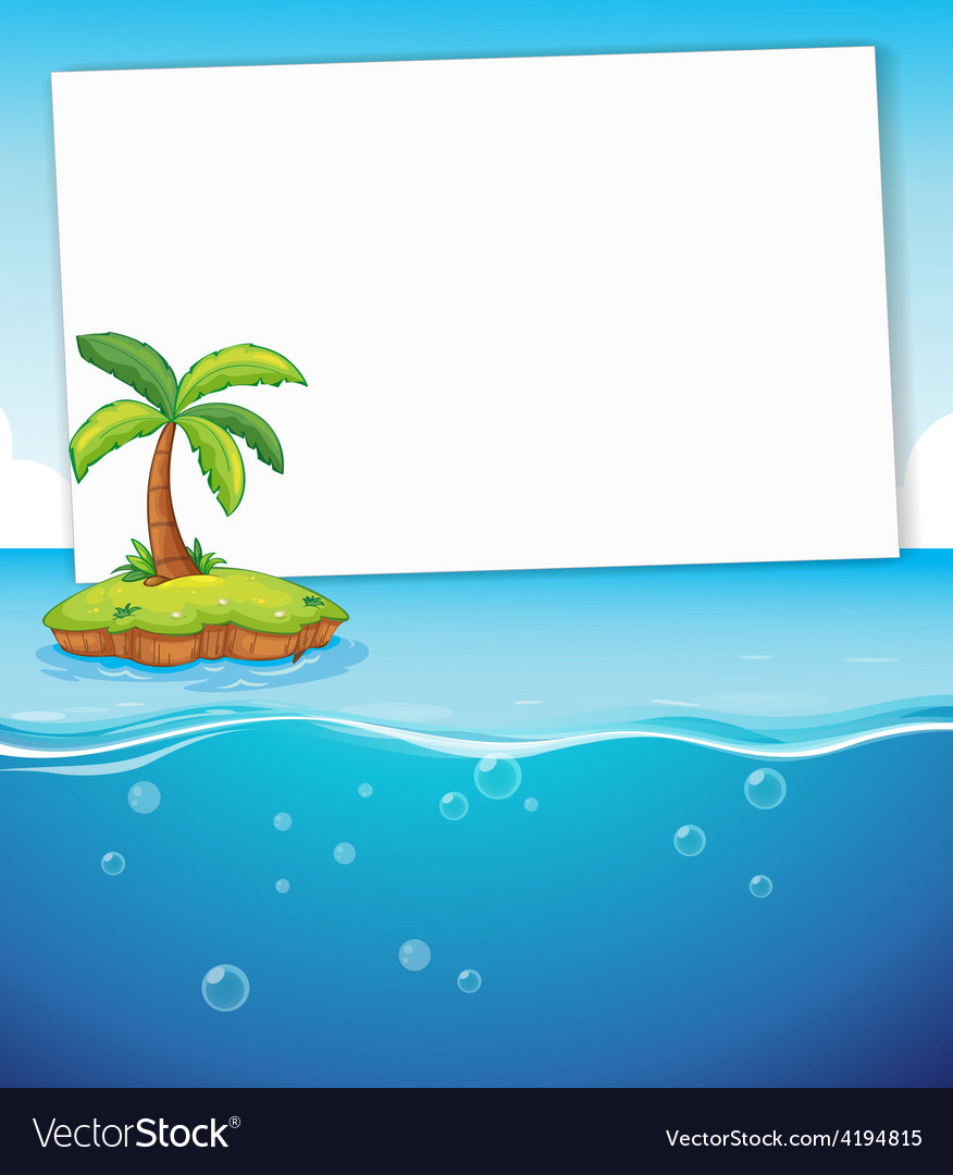 Ocean and sign vector | Price: 1 Credit (USD $1)