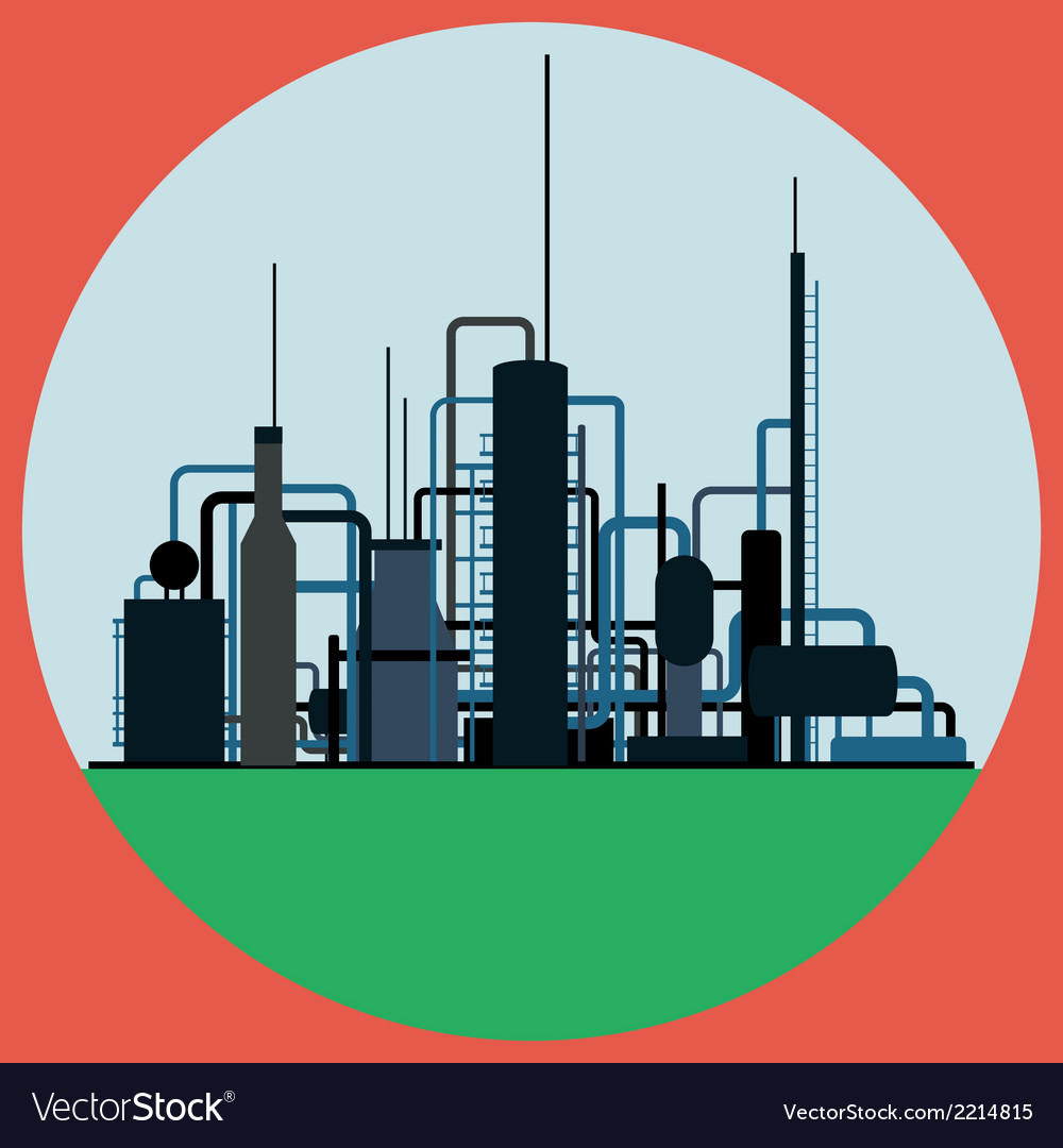Oil refinery vector | Price: 1 Credit (USD $1)