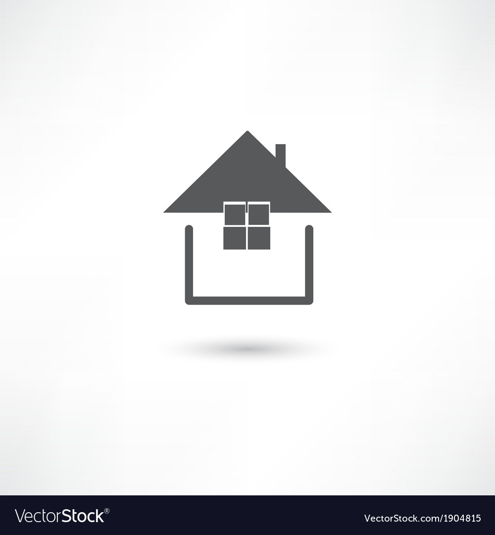Simple house symbol vector | Price: 1 Credit (USD $1)