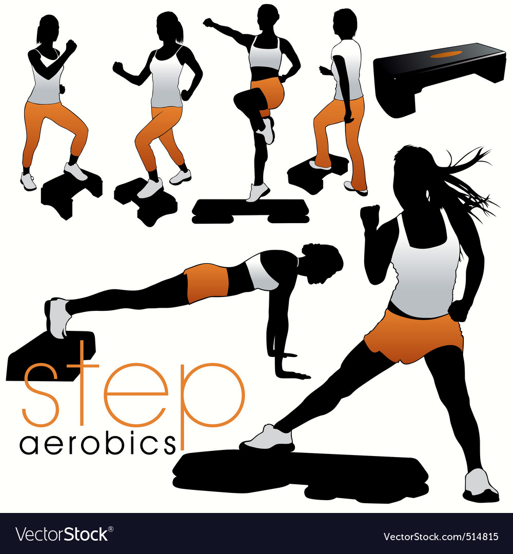 Step aerobics vector | Price: 1 Credit (USD $1)