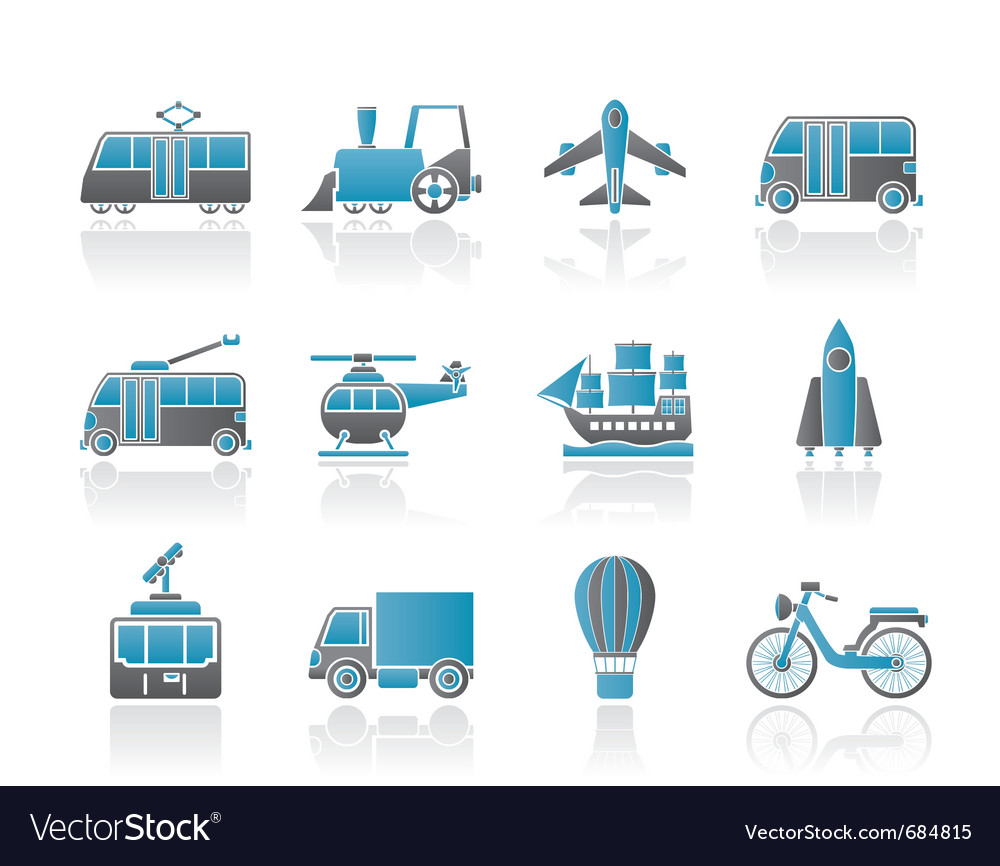 Travel and transportation icons vector | Price: 1 Credit (USD $1)