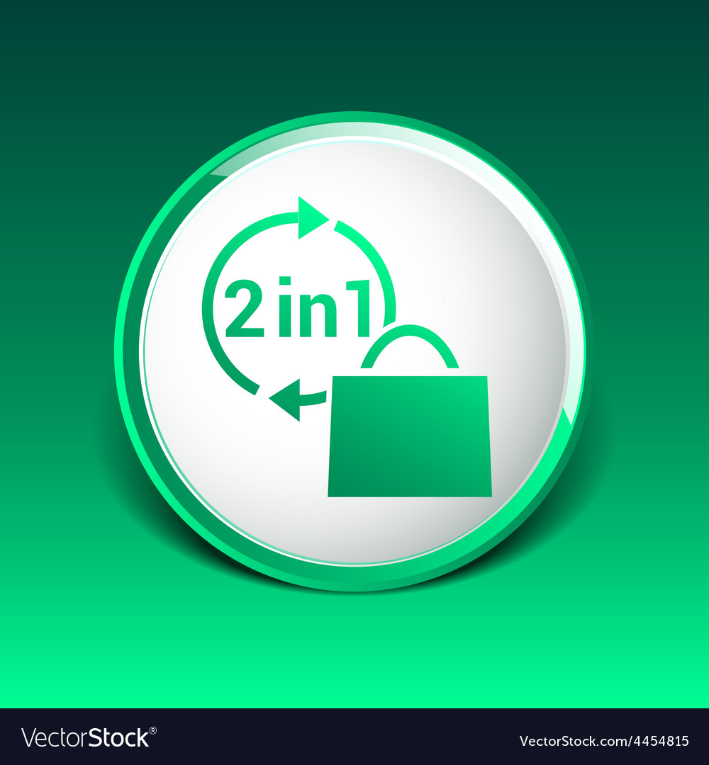 Two in one product package bag icon vector   Price: 1 Credit (USD $1)