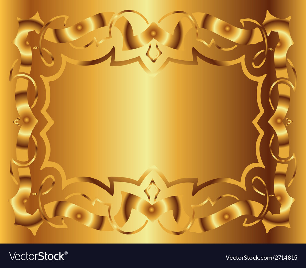 Vintage royal background victorian gold floral lux vector | Price: 1 Credit (USD $1)
