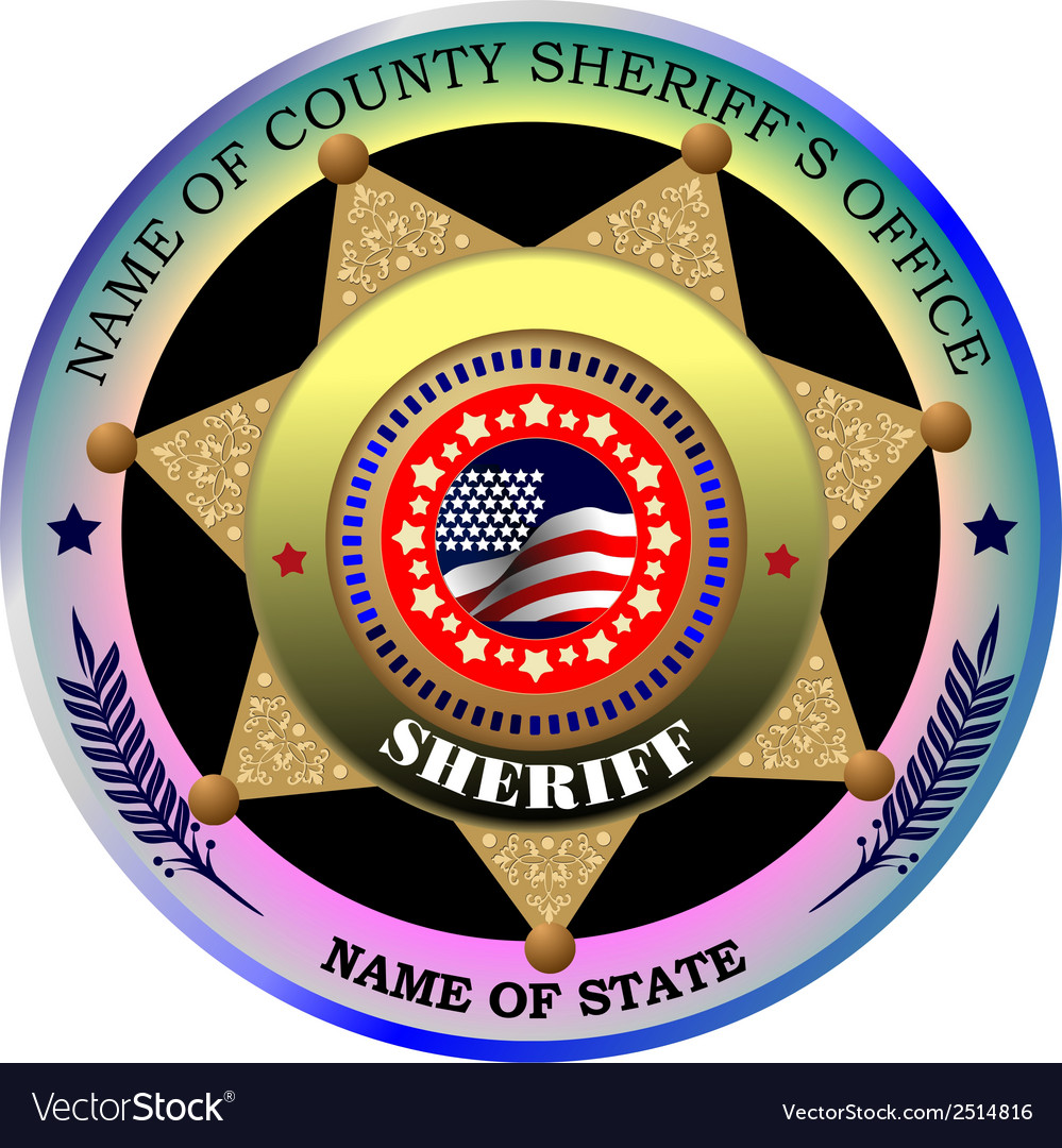 Al 0217 sheriff badge vector | Price: 1 Credit (USD $1)