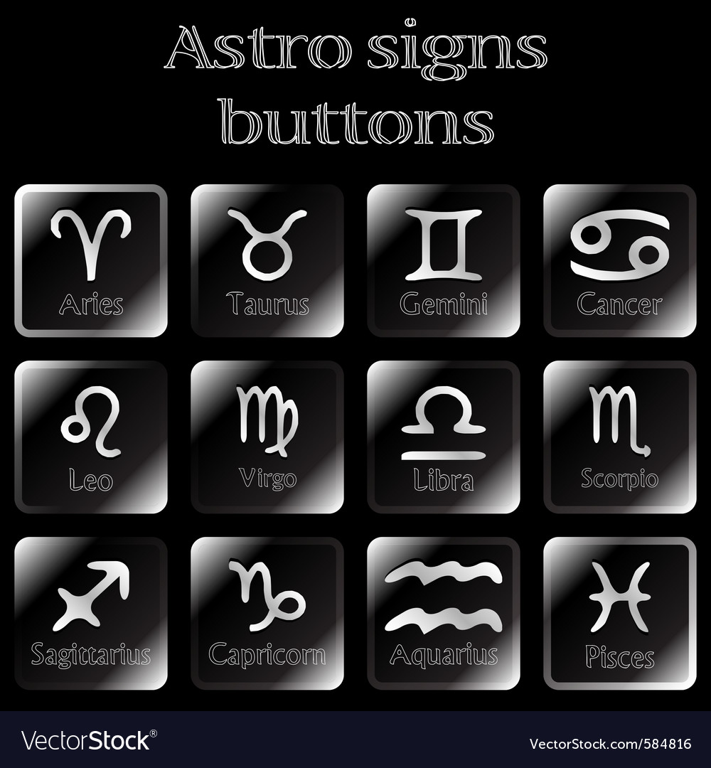 Astro sign buttons vector | Price: 1 Credit (USD $1)