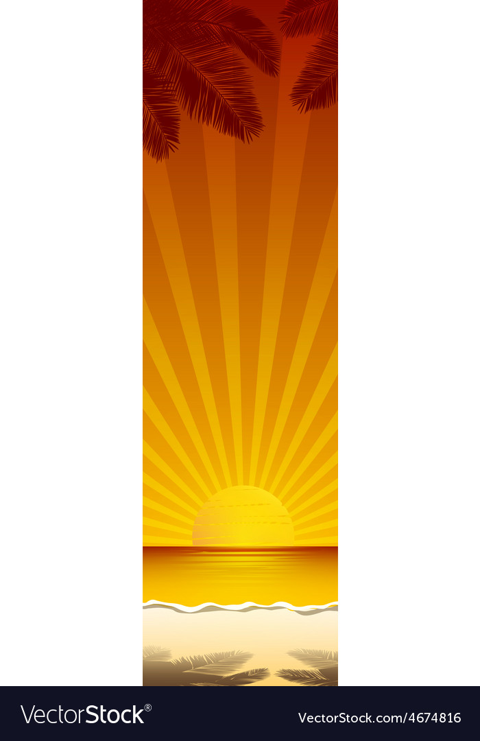 Beach banner 2 vector | Price: 1 Credit (USD $1)