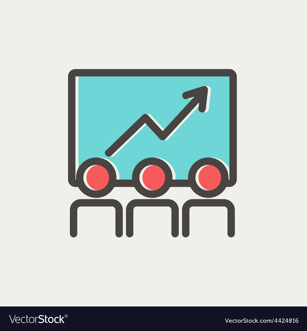 Business growth thin line icon vector   Price: 1 Credit (USD $1)