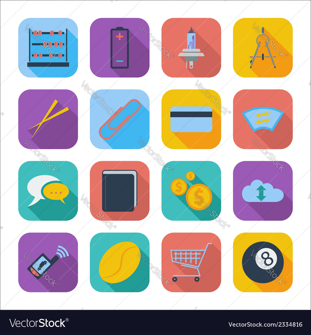 Color flat icons 6 vector | Price: 1 Credit (USD $1)