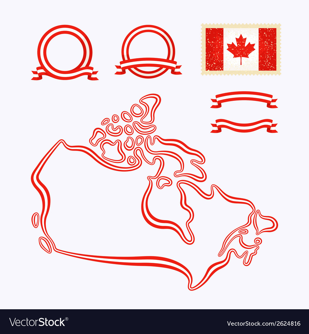 Colors of canada vector | Price: 1 Credit (USD $1)