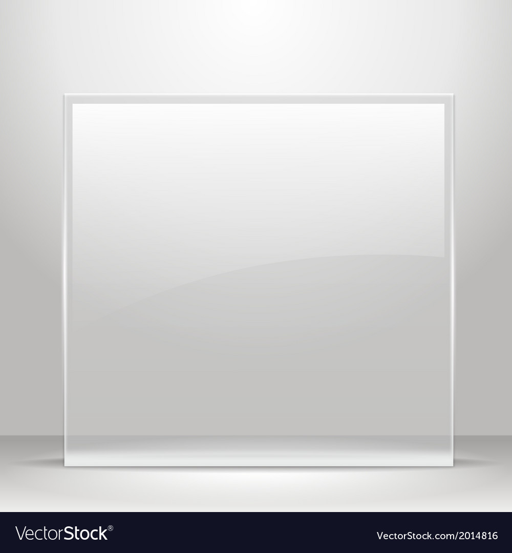 Glass frame for images and advertisement vector | Price: 1 Credit (USD $1)
